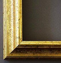 Bilderrahmen Genua Gold 4,3 - mit Passepartout in