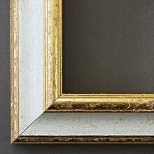 Bilderrahmen Genua Weiß Gold 4,3 - mit