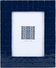 Bilderrahmen, Gitter, blau 13x18