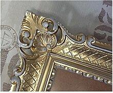 Bilderrahmen Gold-Weiß 90x70 cm ohne Glas