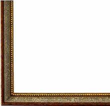 Bilderrahmen Grau Braun Gold 30 x 45 cm - Antik,