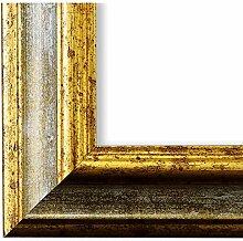 Bilderrahmen Grau Gold 70 x 90 cm 70x90 - Antik,