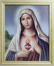 Bilderrahmen Herz Maria Holzrahmen natur 28 x 23 cm