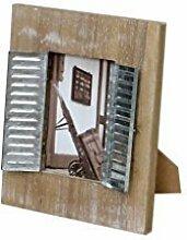 BILDERRAHMEN HOLZ WEIß BRAUN VINTAGE 10cm x 15cm 10 x 15 cm FOTORAHMEN FOTO BILD + BRILLIBRUM® FLYER Geschenke Geschenkidee Kinder (Bilderrahmen - Vintage/Braun)