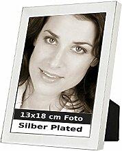 Bilderrahmen Manila für 13x18cm Foto Silber