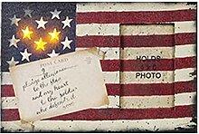 Bilderrahmen mit beleuchteter Flagge