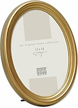 Bilderrahmen Oval Farbe: Gold, Gre (Bild): 25 Cm H
