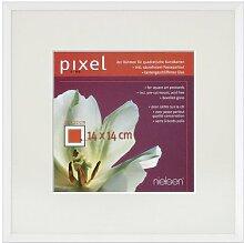 Bilderrahmen Pixel Farbe: Weiß glänzend