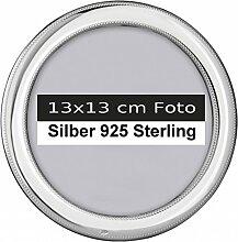 Bilderrahmen Silber 925 Berlin rund D 13 cm Foto