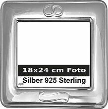 Bilderrahmen Silber 925 Hochzeit für 18x24 cm