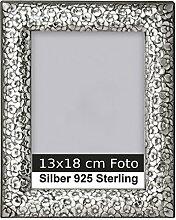 Bilderrahmen Silber 925 Sterling mit Rosendekor