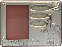 Bilderrahmen Silber 925 Sterling Storch zur Geburt