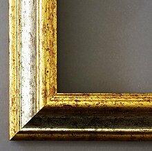 Bilderrahmen Silber Gold - 70 x 90 cm mit