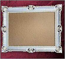 Bilderrahmen Silber-Gold 90x70 cm ohne Glasscheibe
