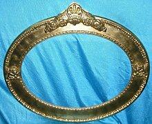 Bilderrahmen Spiegel oval Blattgold