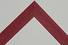 Bilderrahmen Star 4 - Rot gebürstet 50x70 cm