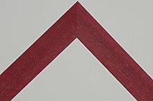 Bilderrahmen Star 4 - Rot gebürstet 60x60 cm