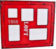 Bilderrahmen Vintage Industrial Loft Design 40x35x2cm rot Trend Style
