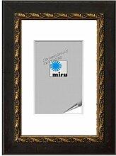 Bilderrahmen von Mira Spiegelrahmen Chambéry Maßanfertigung 80 nußbraun-gold - Spiegel