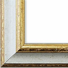 Bilderrahmen Weiß Gold 30 x 40 cm 30x40 - Antik,