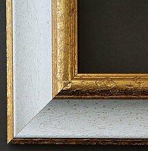 Bilderrahmen Weiß Gold - 70 x 100 cm mit