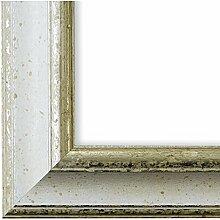 Bilderrahmen Weiß Silber 40 x 50 cm 40x50 -