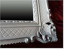 Bilderrahmen Weiß-Silber Dualcolor 90x70 cm ohne