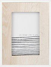 Bilderrahmen, weiß und naturfarben 10x15