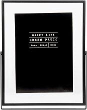 Bilderrahmen zum Aufstellen aus schwarzem Glas und