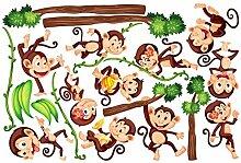 Bilderwelten Fenstersticker Affen des Dschungels