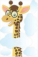 Bilderwelten Fenstersticker Lustige Giraffe Tiere