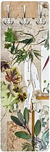 Bilderwelten Flur Garderobenleiste Blumen und