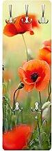 Bilderwelten Garderobe Flurgarderobe Blumen Roter
