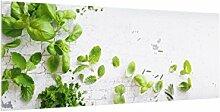 Bilderwelten Glas Küchenrückwand - Kräuter auf