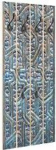 Bilderwelten Holz Wandgarderobe Tür mit