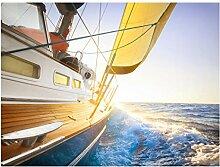 Bilderwelten Magnettafel - Segelboot auf Blauem