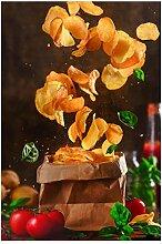 Bilderwelten Magnettafel - Tomate-Basilikum-Snack