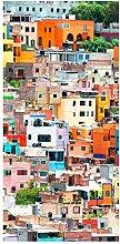 Bilderwelten Raumteiler - Farbige Häuserfront