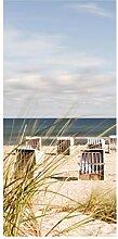 Bilderwelten Raumteiler Ostsee und Strandkörbe