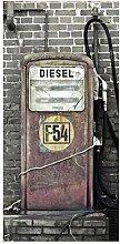 Bilderwelten Raumteiler Tankstelle 250x120cm inkl.