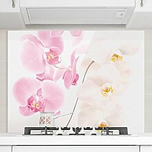 Bilderwelten Spritzschutz Glas - Delicate Orchids