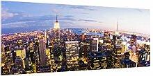 Bilderwelten Spritzschutz Glas - New York Skyline