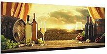 Bilderwelten Spritzschutz Glas - Wein mit Ausblick
