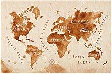 Bilderwelten Spritzschutz Glas - Weltkarte