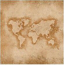 Bilderwelten Vliestapete - Antike Weltkarte -