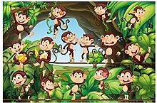 Bilderwelten Vliestapete - Dschungelaffen -