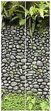 Bilderwelten Vliestapete Tür Premium - Steinwand