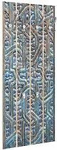 Bilderwelten Wandgarderobe Holz Tür mit