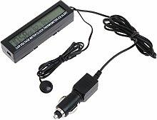 BIlinli Digital LCD Uhr Auto Voltmeter Thermometer