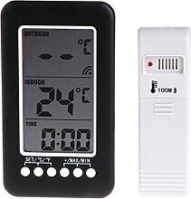 BIlinli In / Outdoor Digital Wireless Thermometer